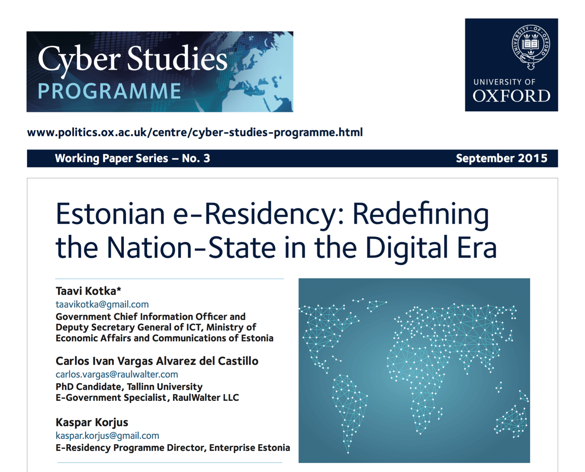 Estonian e-Residency: Redefining the Nation-State in the Digital Era preview image